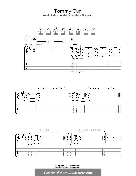Tommy Gun (The Clash): Für Gitarre mit Tabulatur by Joe Strummer, Mick Jones