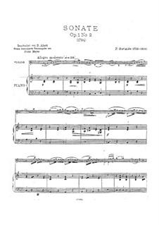 Sonata für Violine (oder Bratsche) und Klavier Nr.2, Op.1: Sonata für Violine (oder Bratsche) und Klavier Nr.2 by Pierre Gaviniès