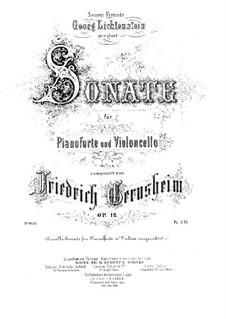 Sonate für Cello und Klavier in d-Moll, Op.12: Partitur, Solostimme by Friedrich Gernsheim