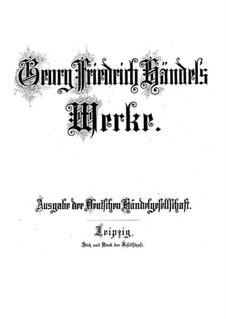 Utrechter Jubilate, HWV 280: Utrechter Jubilate by Georg Friedrich Händel