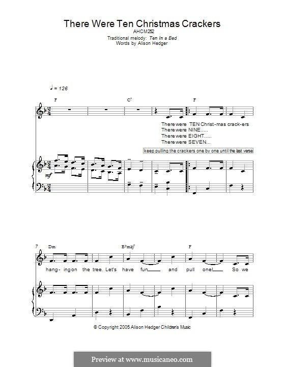 There Were Ten Christmas Crackers: Für Stimme und Klavier (oder Gitarre) by folklore