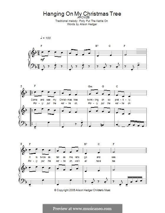 Hanging on My Christmas Tree: Für Stimme und Klavier (oder Gitarre) by folklore