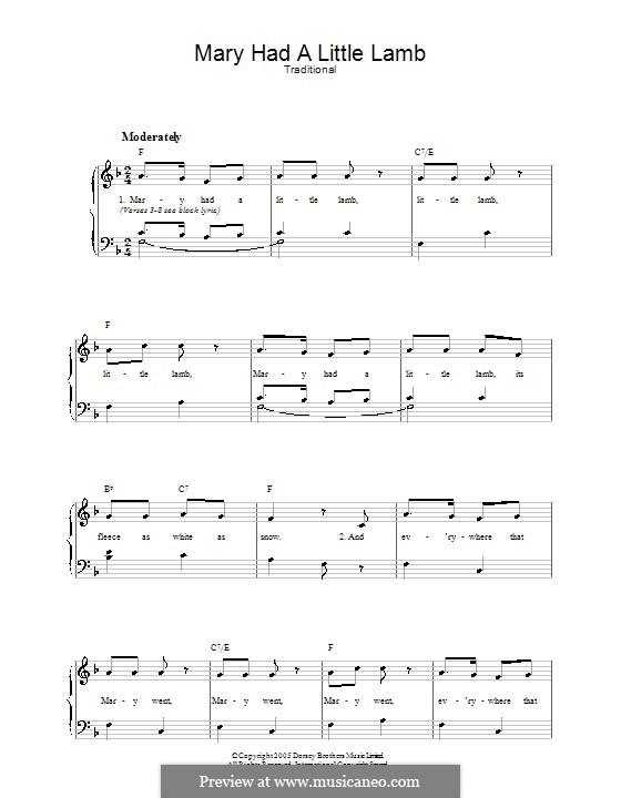 Mary Had a Little Lamb: Für Stimme und Klavier by folklore