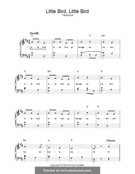 Little Bird, Little Bird: Für Stimme und Klavier by folklore