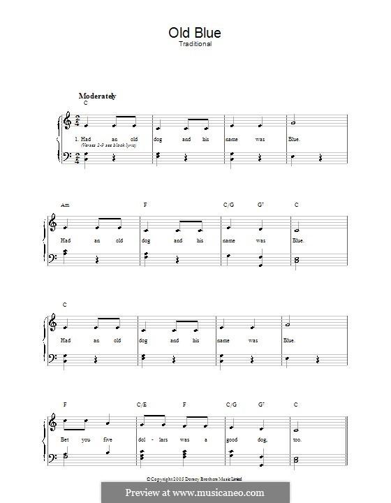 Old Blue: Für Stimme und Klavier by folklore