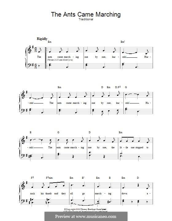 The Ants Came Marching: Für Stimme und Klavier by folklore