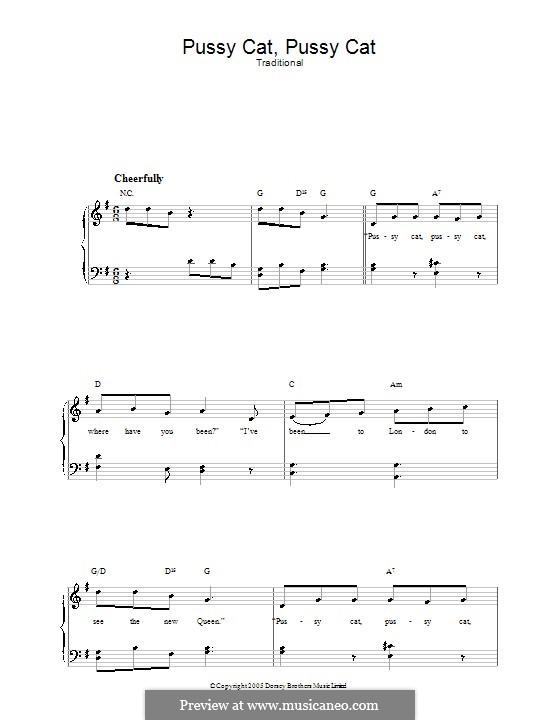 Pussy Cat, Pussy Cat: Für Stimme und Klavier by folklore