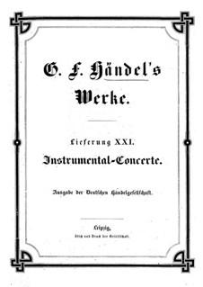 Instrumental-Concerte: Instrumental-Concerte by Georg Friedrich Händel
