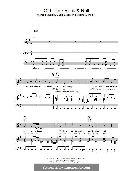 Old Time Rock and Roll: Für Stimme und Klavier (oder Gitarre) by George E. Jackson, Thomas Jones III