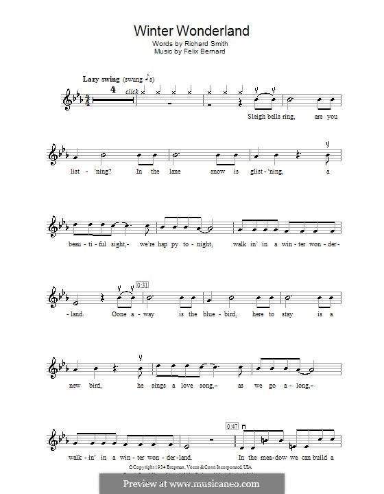 Winter Wonderland: Für Violine by Felix Bernard