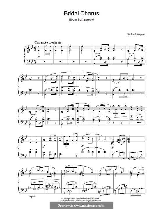 Brautlied: Für Klavier by Richard Wagner