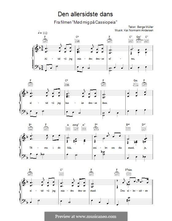 Den Allersidste Dans: Für Stimme und Klavier (oder Gitarre) by Kai Normann Andersen