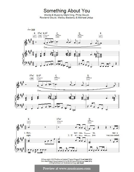 Something About You (Level 42): Für Stimme und Klavier (oder Gitarre) by Mark King, Michael Lindup, Philip Gould, Rowland Gould, Waliou Badarou