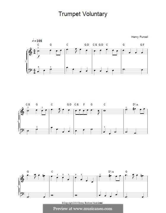 Trumpet Voluntary: Trumpet Voluntary by Henry Purcell