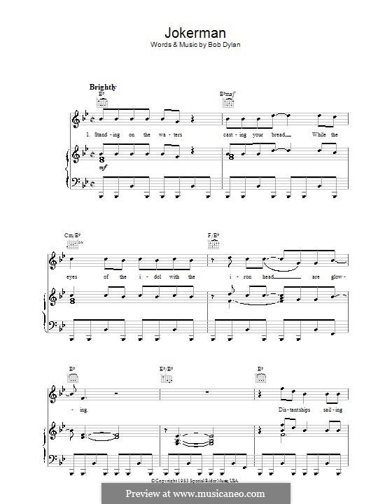 Jokerman: Für Stimme und Klavier (oder Gitarre) by Bob Dylan