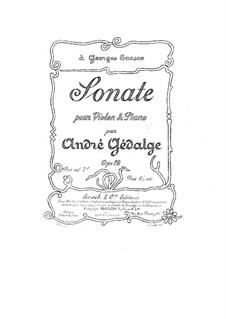 Sonate für Violine und Klavier in G-Dur, Op.12: Sonate für Violine und Klavier in G-Dur by André Gedalge