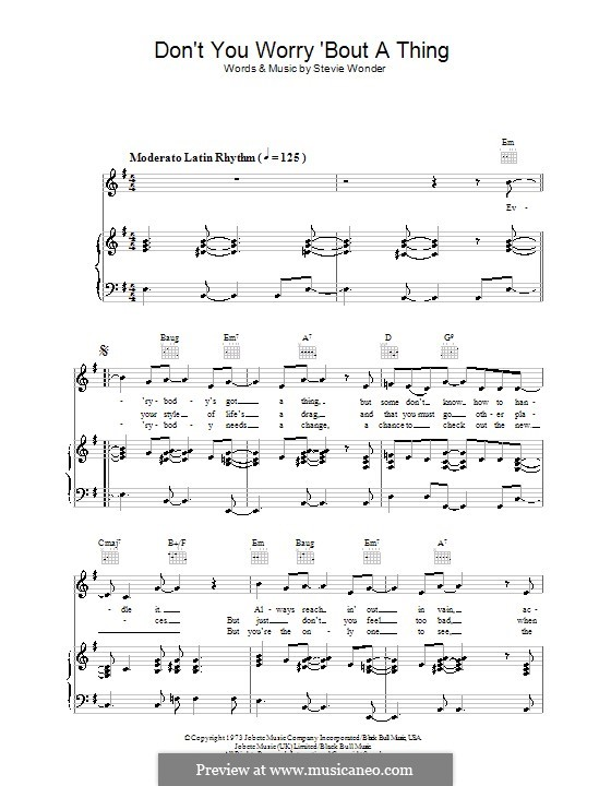 Piano-vocal version: Für Stimme und Klavier (oder Gitarre) by Stevie Wonder