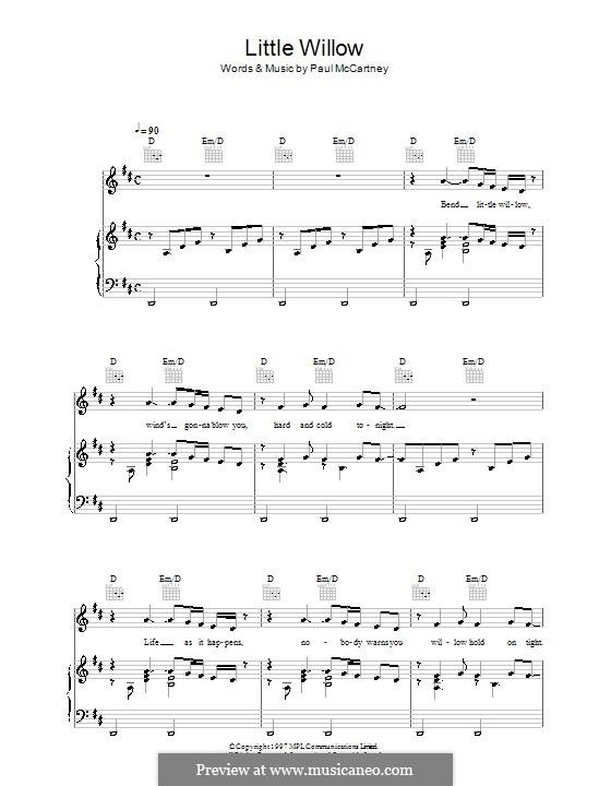 Little Willow: Für Stimme und Klavier (oder Gitarre) by Paul McCartney