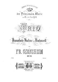 Klaviertrio Nr.1 in F-Dur, Op.28: Klaviertrio Nr.1 in F-Dur by Friedrich Gernsheim
