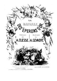 Schlacht von Courtrai: Schlacht von Courtrai by François-Auguste Gevaert