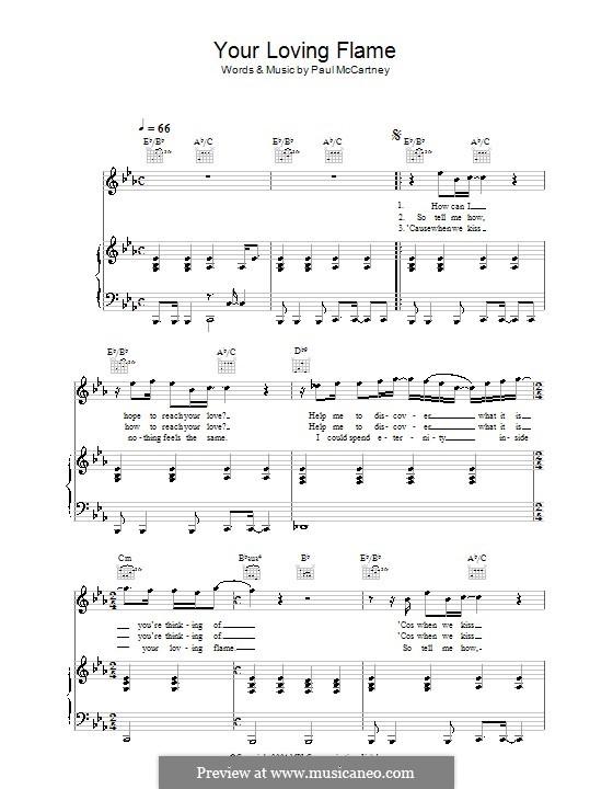 Your Loving Flame: Für Stimme und Klavier (oder Gitarre) by Paul McCartney