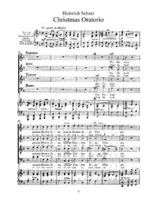 Weihnachts-Oratorium: Weihnachts-Oratorium by Heinrich Schütz