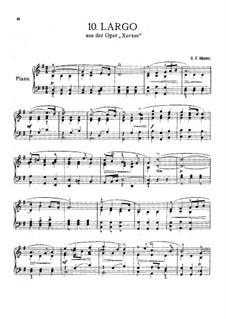 Largo: For Klavier by Georg Friedrich Händel