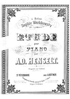 Etüde in a-Moll: Etüde in a-Moll by Adolf von Henselt
