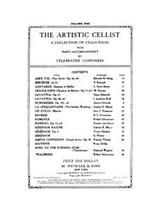 Suite für Cello und Orchester, Op.3: Serenade, für Cello und Klavier by Victor Herbert