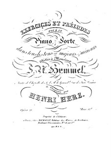 Vierundzwanzig Übungen und Präludien, Op.21: Vierundzwanzig Übungen und Präludien by Henri Herz