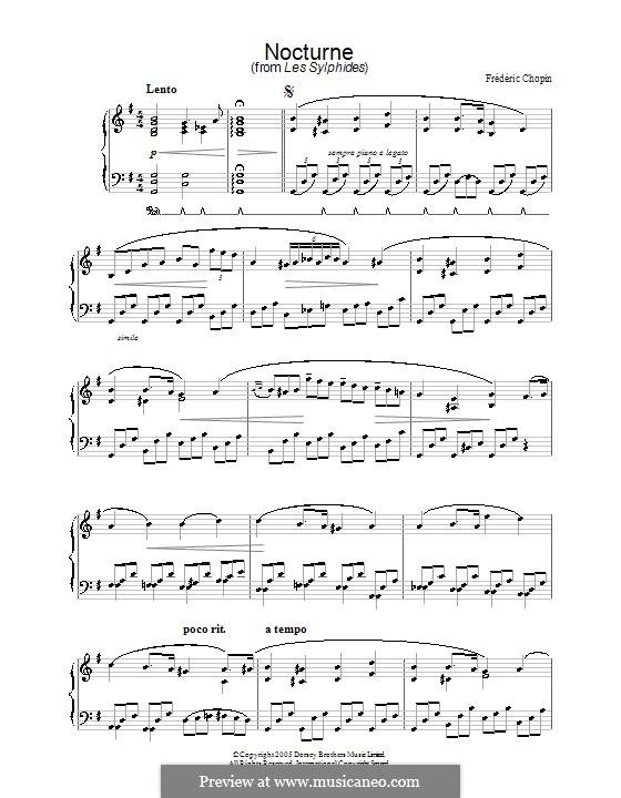 Nocturne from Les Sylphides: Nocturne from Les Sylphides by Frédéric Chopin