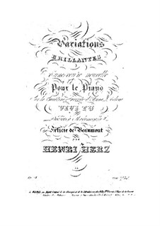 Variations brillantes d'une Coupe nouvelle, Op.78: Variations brillantes d'une Coupe nouvelle by Henri Herz