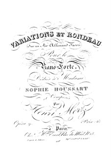 Variations et Rondeau sur un Air Allemand Favori, Op.9: Variations et Rondeau sur un Air Allemand Favori by Henri Herz