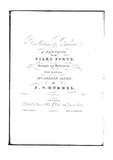 Recollections of Paganini. Fantasia, S.190 WoO 8: Recollections of Paganini. Fantasia by Johann Nepomuk Hummel