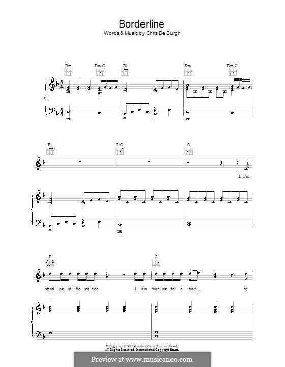 Borderline: Für Stimme und Klavier (oder Gitarre) by Chris de Burgh