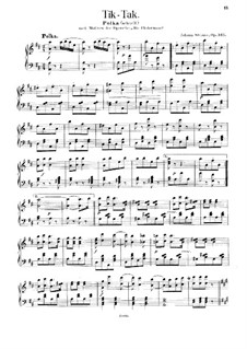 Die Fledermaus: Tik-Tak by Johann Strauss (Sohn)