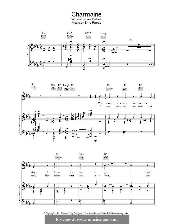 Charmaine: Für Stimme und Klavier (oder Gitarre) by Erno Rapee
