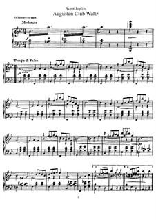 Augustan Club Waltz: Für Klavier by Scott Joplin