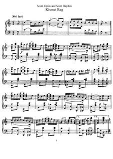 Kismet Rag: Für Klavier by Scott Joplin