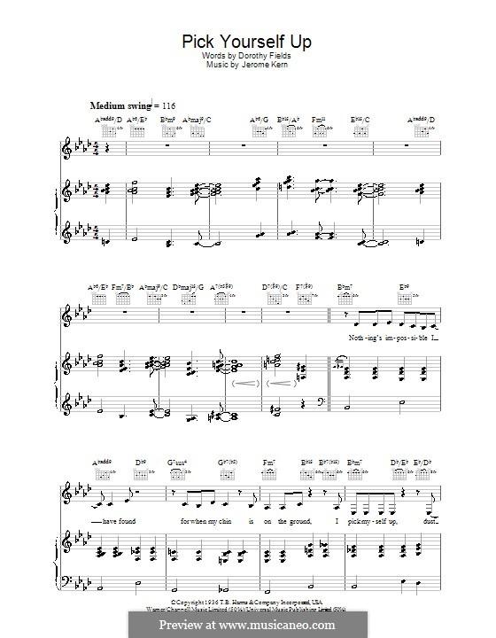Pick Yourself Up: Für Stimme und Klavier (oder Gitarre) by Jerome Kern