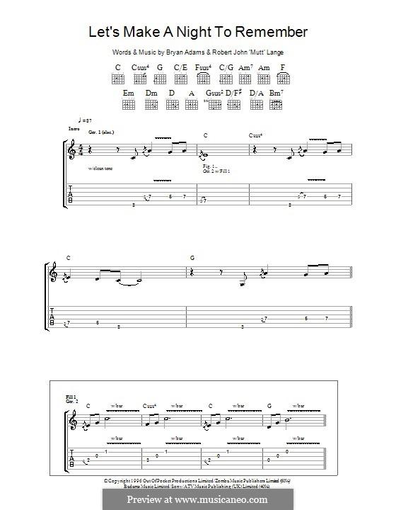Let's Make a Night to Remember: Für Gitarre mit Tabulatur by Robert John Lange