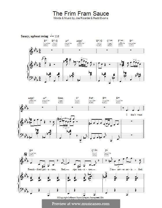 The Frim Fram Sauce: Für Stimme mit Klavier oder Gitarre (Diana Krall) by Joe Ricardel