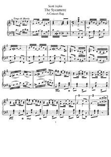 The Sycamore: Für Klavier by Scott Joplin