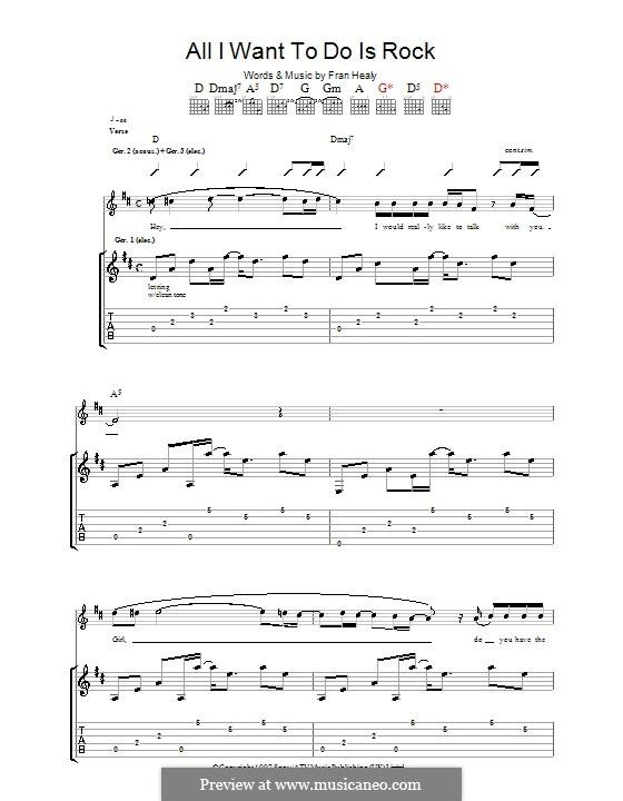 All I Want to do Is Rock (Travis): Für Gitarre mit Tabulatur by Fran Healy