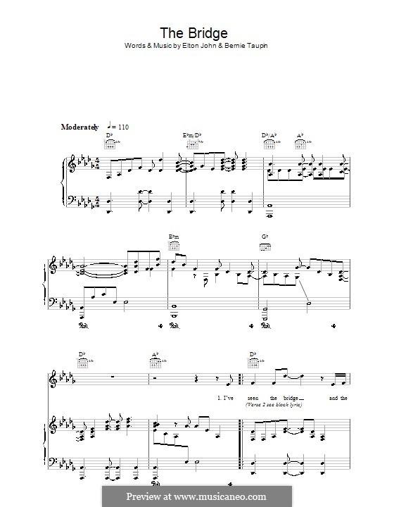 The Bridge: Für Stimme und Klavier (oder Gitarre) by Elton John