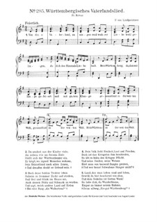 Württembergisches Vaterlandslied: Württembergisches Vaterlandslied by Peter Josef von Lindpainter