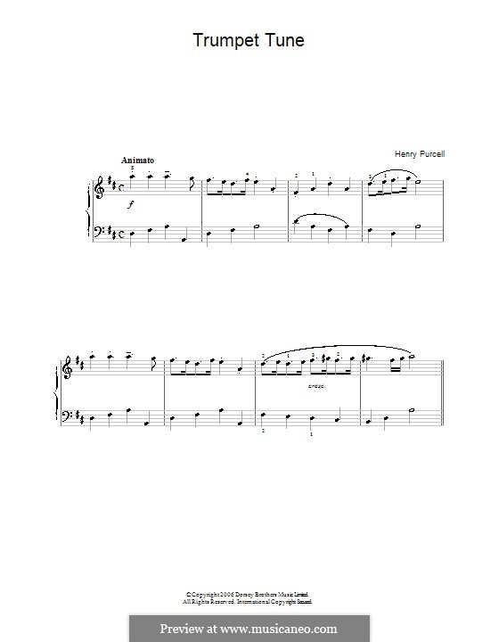 Trumpet tune and Air: Für Klavier by Henry Purcell