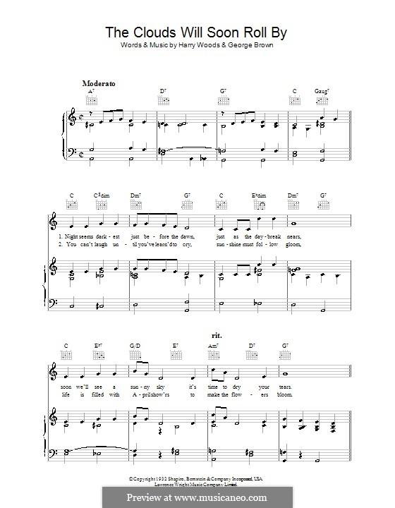 The Clouds Will Soon Roll By: Für Stimme und Klavier (oder Gitarre) by George Brown