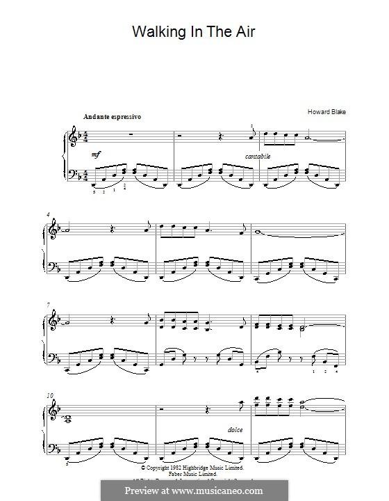 Walking in the Air: Für Klavier by Howard Blake
