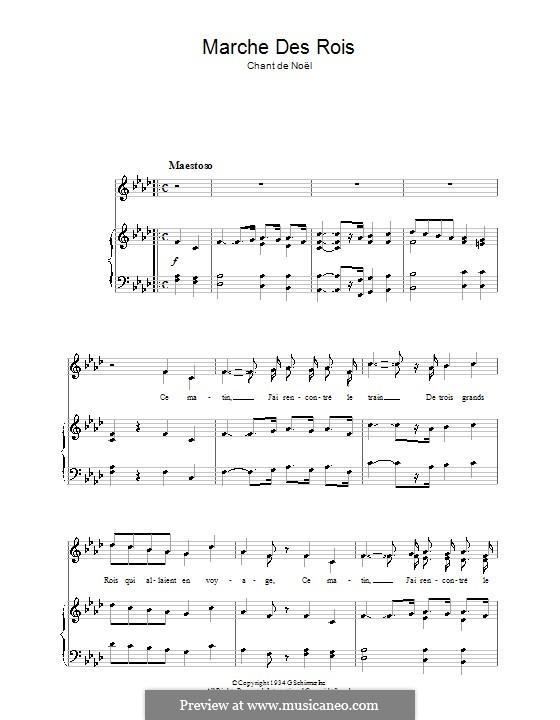 Marche de rois: Für Stimme und Klavier by folklore